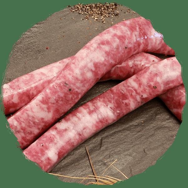 chipolata - cochon des prés - gamme saucisses