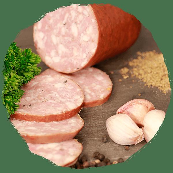 saucisson à l'ail - cochon des prés - apéro