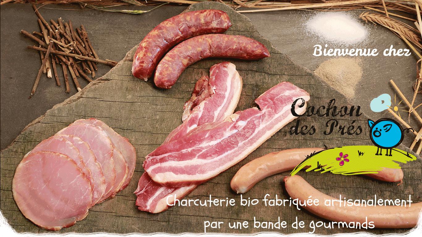 Bienvenue sur le site de Cochon des Prés, charcuterie bio fabriquée par une bande de gourmands